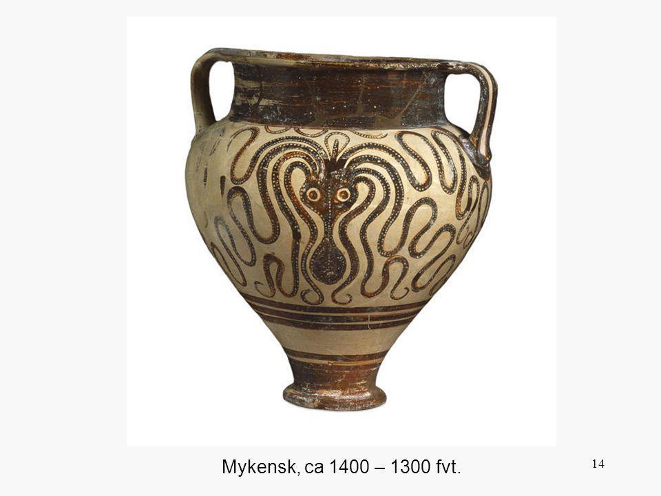 Detta marina motiv var lika välkänt för greker då som nu, och var mycket populärt.