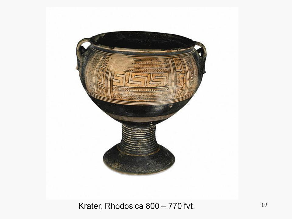 Den geometriska stilen infaller efter en politiskt orolig tid i Grekland. Ett nytt folkslag, dorerna, hade kommit norrifrån och intagit och skövlat så gott som samtliga större grekiska städer. Den tidigare kulturen, akajernas, började gå under mot slutet av 1200-talet.