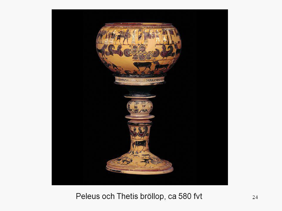 Peleus och Thetis bröllop, ca 580 fvt