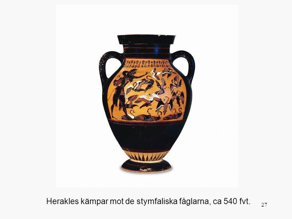 Herakles kämpar mot de stymfaliska fåglarna, ca 540 fvt.