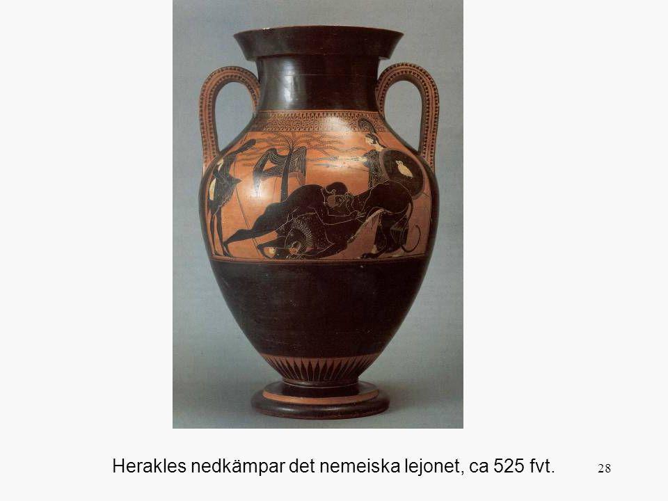 Herakles nedkämpar det nemeiska lejonet, ca 525 fvt.