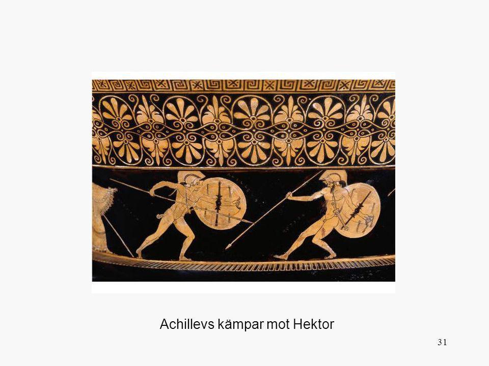 Achillevs kämpar mot Hektor
