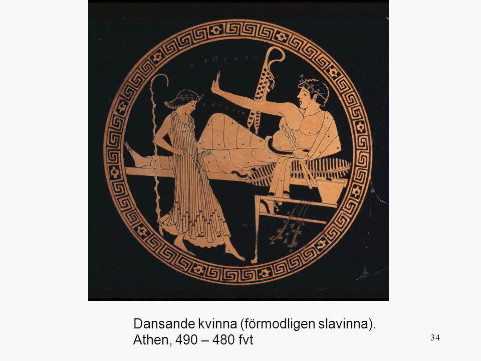 Dansande kvinna (förmodligen slavinna). Athen, 490 – 480 fvt