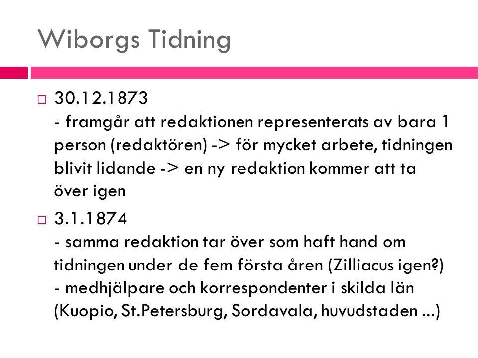 Wiborgs Tidning