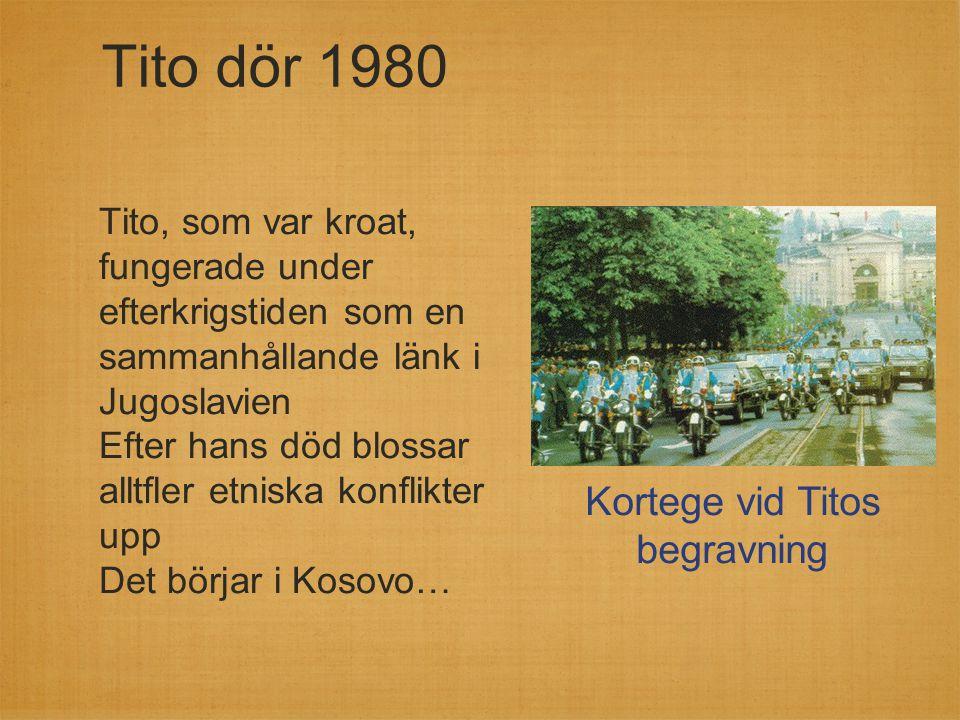 Kortege vid Titos begravning