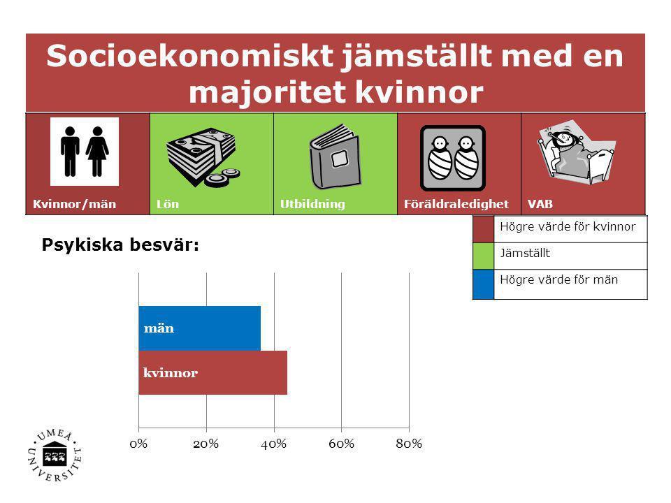 Socioekonomiskt jämställt med en majoritet kvinnor