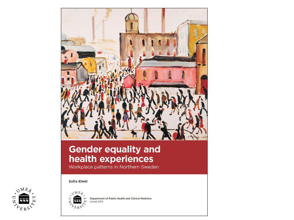 Avhandlingens övergripande syfte var att utforska jämställdhet och hälsoupplevelser på arbetsplatser.
