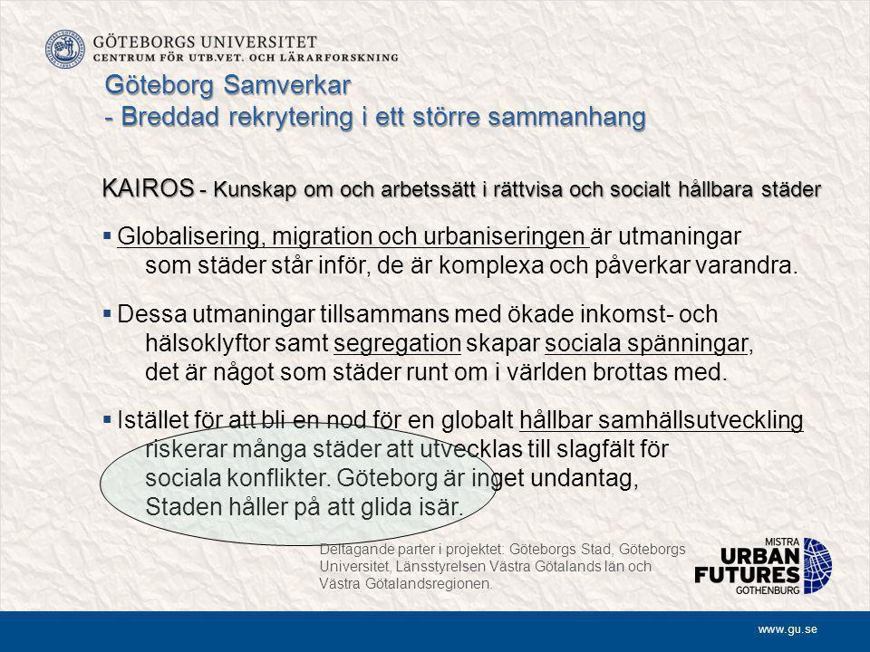 Göteborg Samverkar - Breddad rekrytering i ett större sammanhang