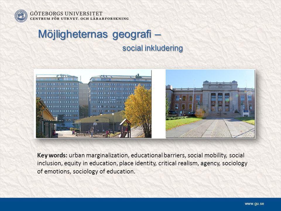 Möjligheternas geografi – social inkludering