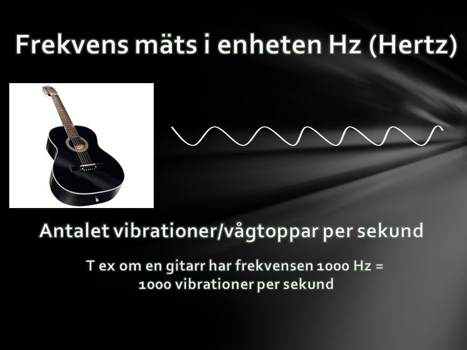 Frekvens mäts i enheten Hz (Hertz)