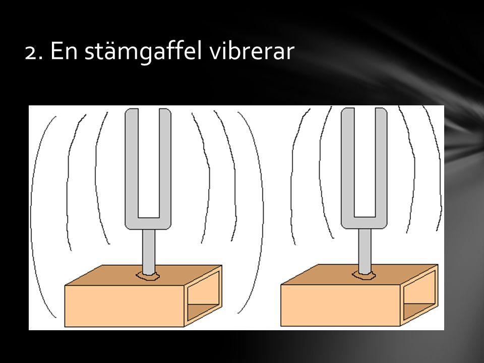 2. En stämgaffel vibrerar