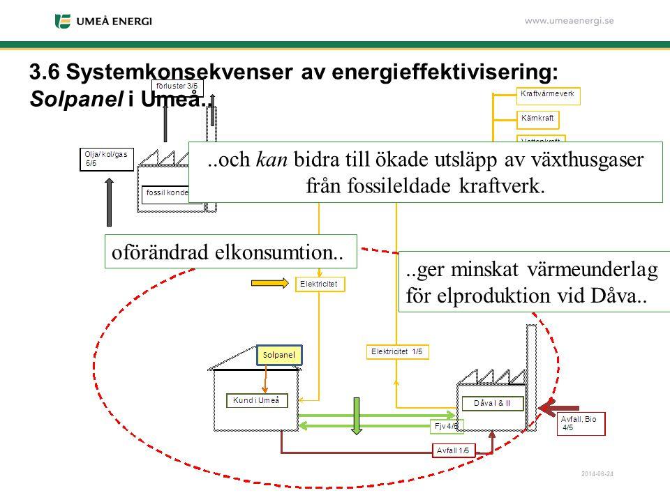 3.6 Systemkonsekvenser av energieffektivisering: Solpanel i Umeå..
