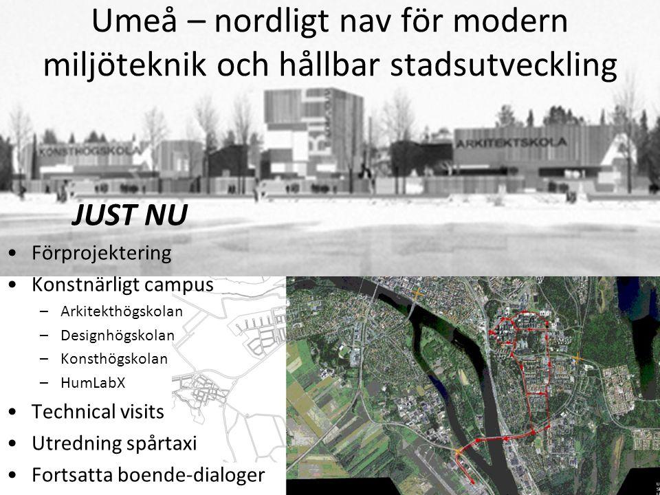 Umeå – nordligt nav för modern miljöteknik och hållbar stadsutveckling