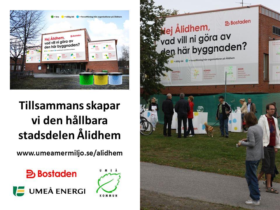 Tillsammans skapar vi den hållbara stadsdelen Ålidhem
