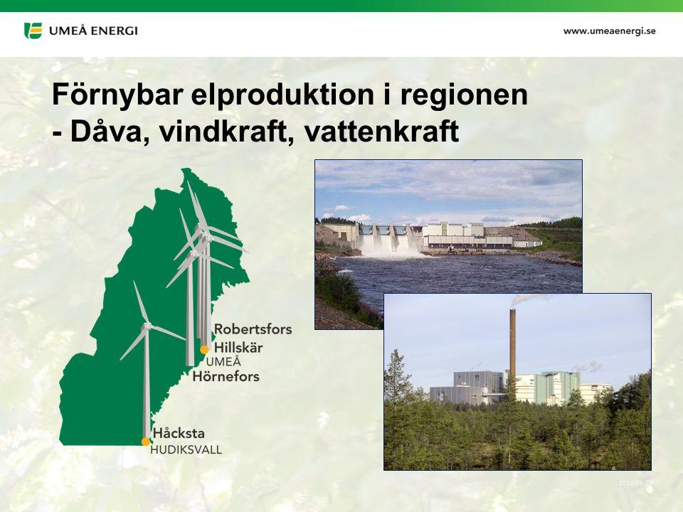 Förnybar elproduktion i regionen - Dåva, vindkraft, vattenkraft