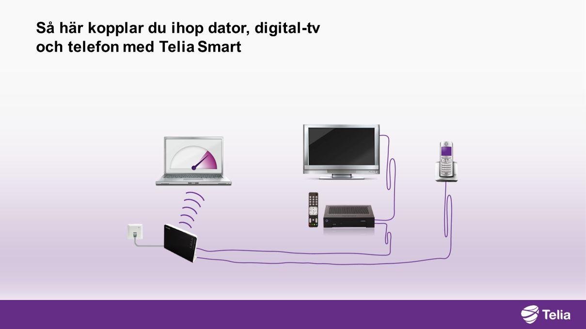 Så här kopplar du ihop dator, digital- tv och telefon med Telia Smart