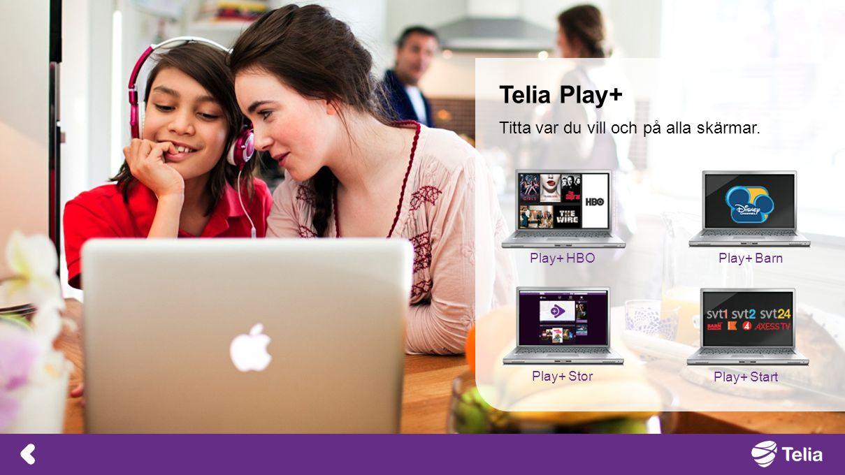 Telia Play+ Titta var du vill och på alla skärmar. Play+ HBO