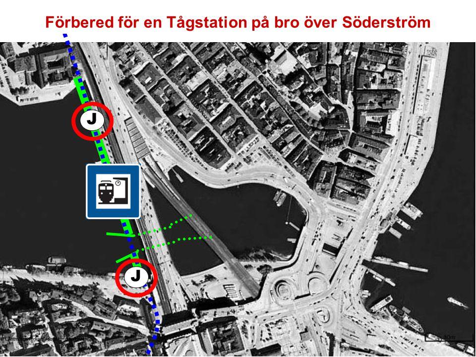 Förbered för en Tågstation på bro över Söderström