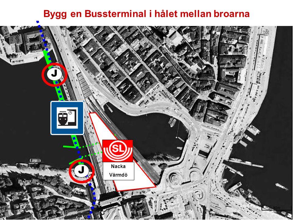 Bygg en Bussterminal i hålet mellan broarna