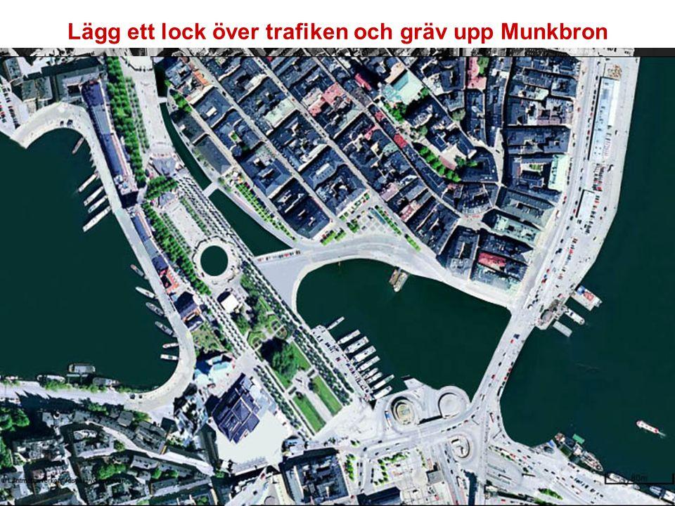 Lägg ett lock över trafiken och gräv upp Munkbron