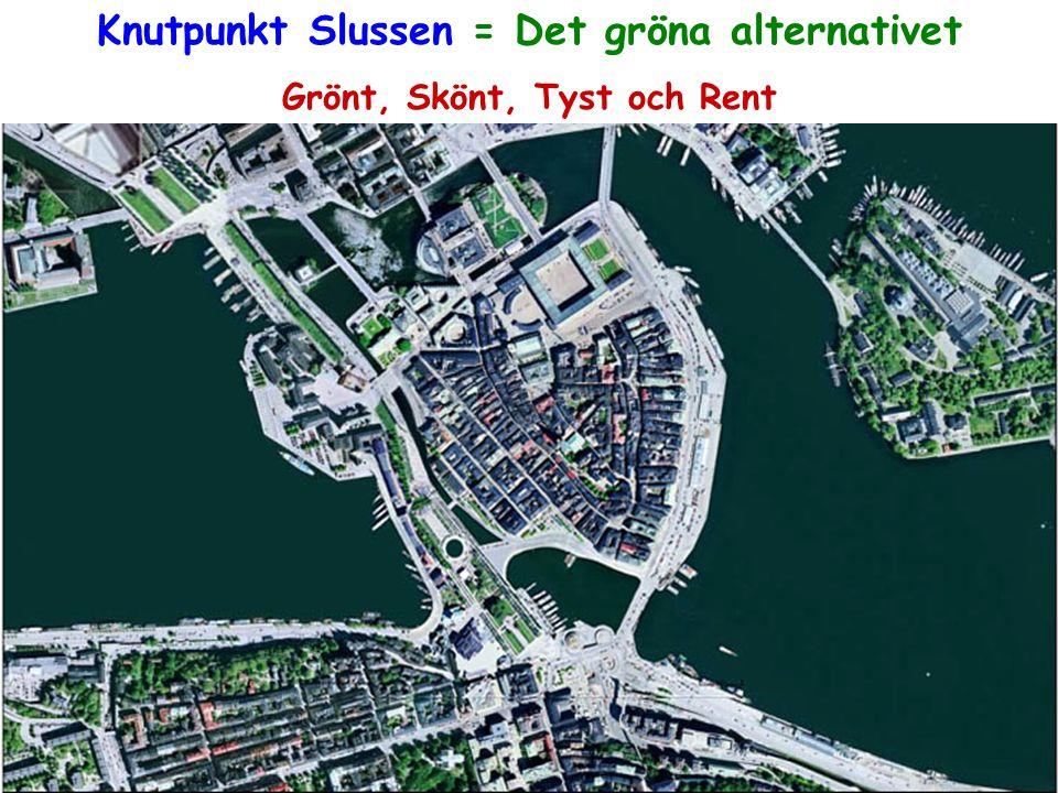 Knutpunkt Slussen = Det gröna alternativet Grönt, Skönt, Tyst och Rent