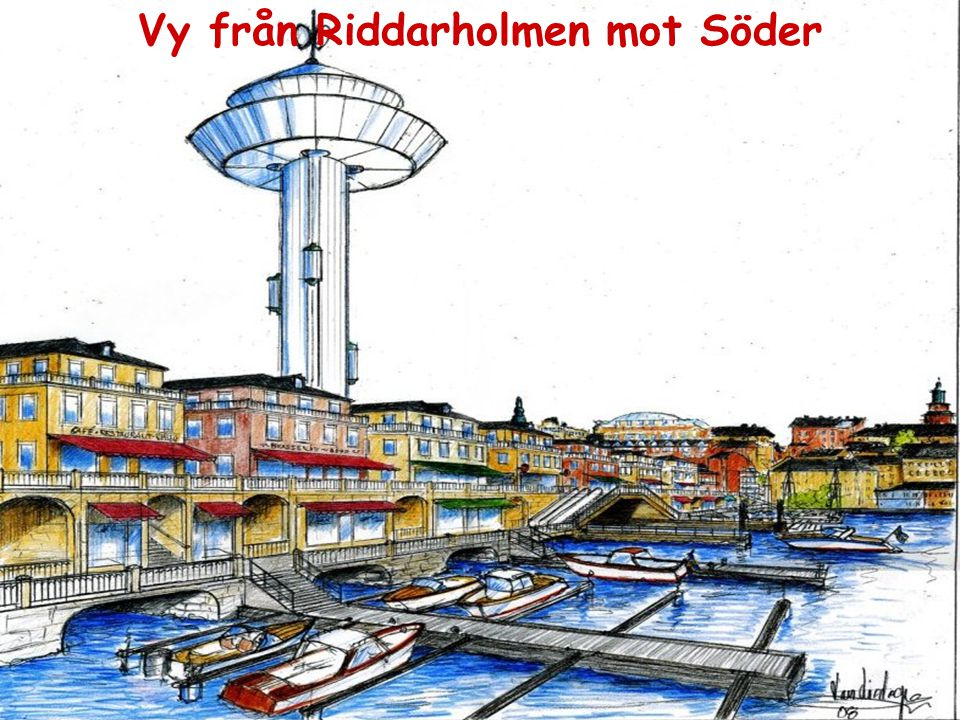 Vy från Riddarholmen mot Söder