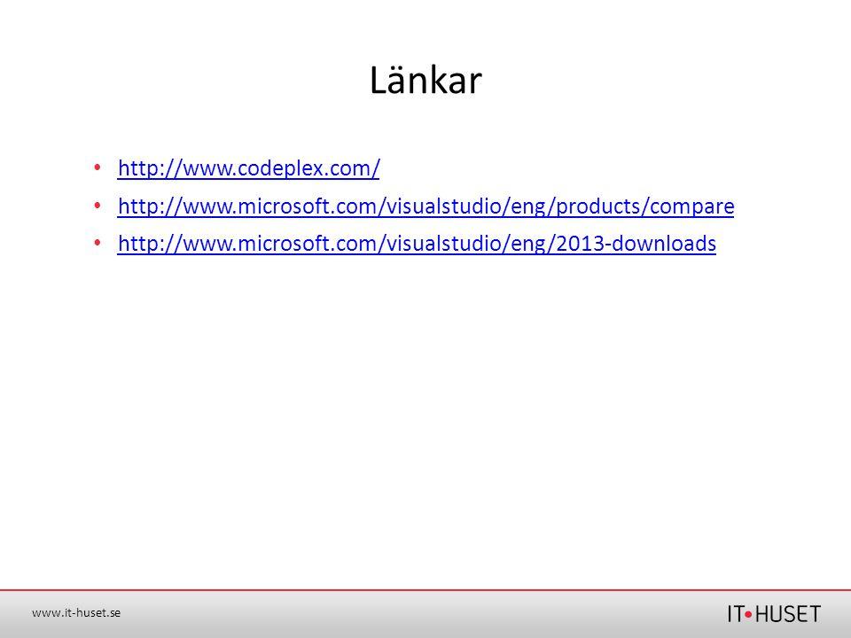 Länkar http://www.codeplex.com/