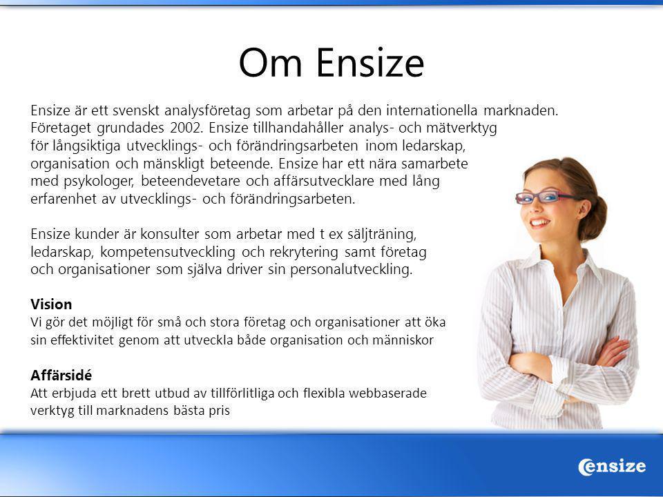 Om Ensize Ensize är ett svenskt analysföretag som arbetar på den internationella marknaden.