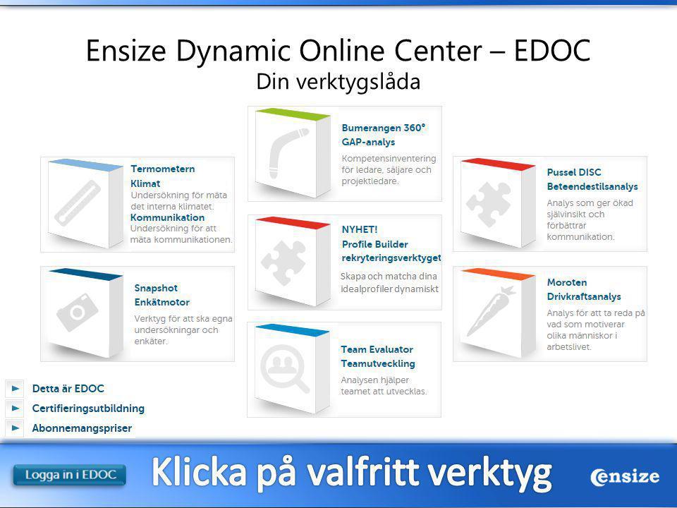 Ensize Dynamic Online Center – EDOC Din verktygslåda