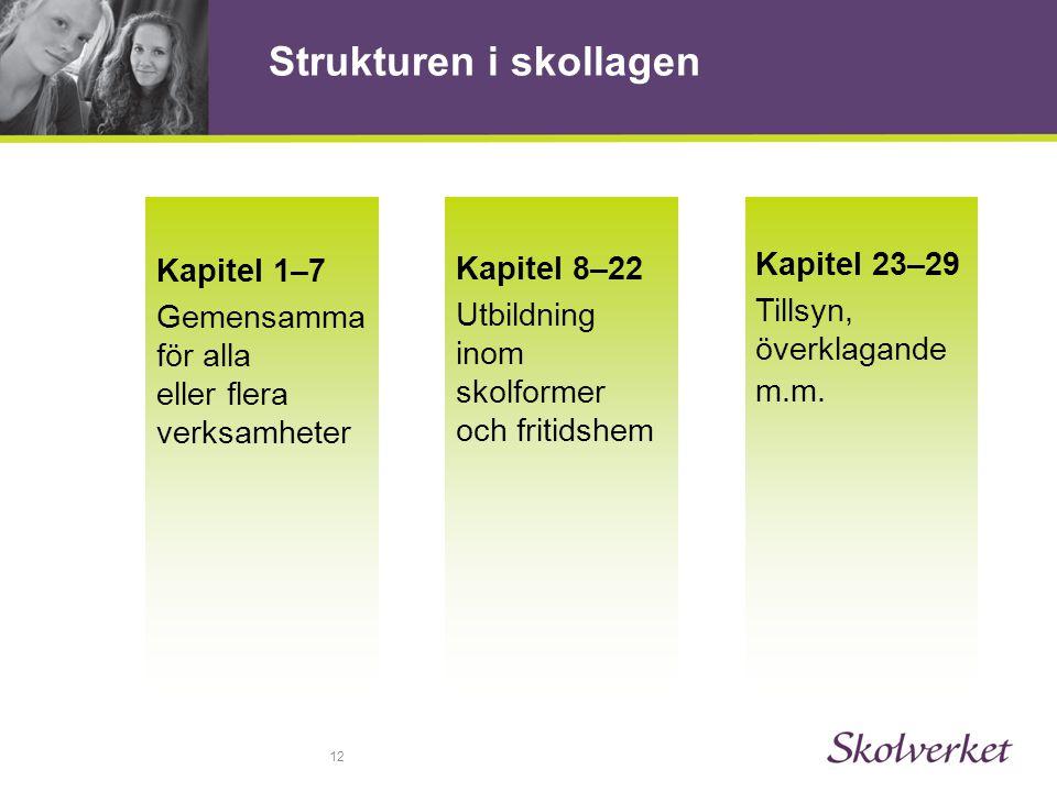 Strukturen i skollagen