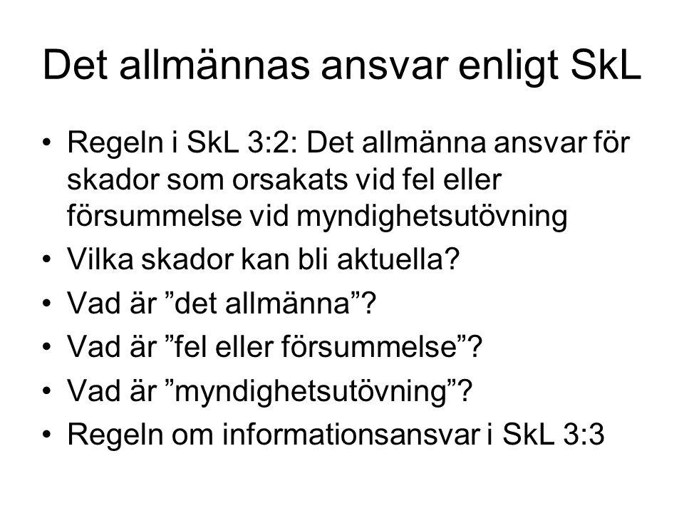 Det allmännas ansvar enligt SkL