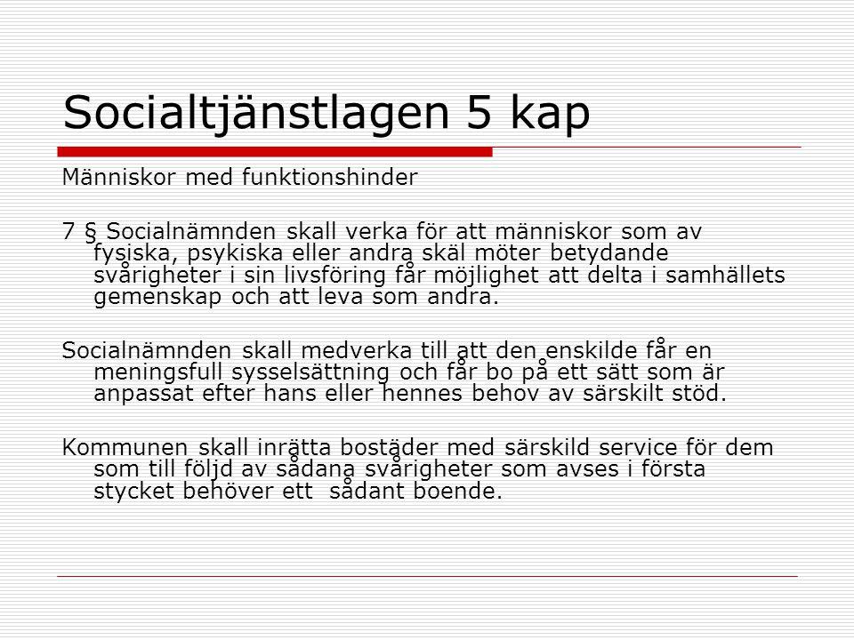 Socialtjänstlagen 5 kap