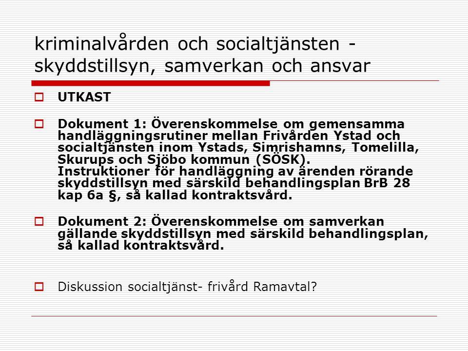 kriminalvården och socialtjänsten - skyddstillsyn, samverkan och ansvar