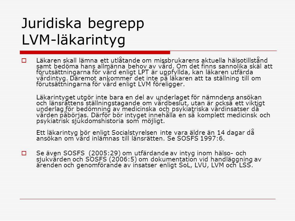 Juridiska begrepp LVM-läkarintyg