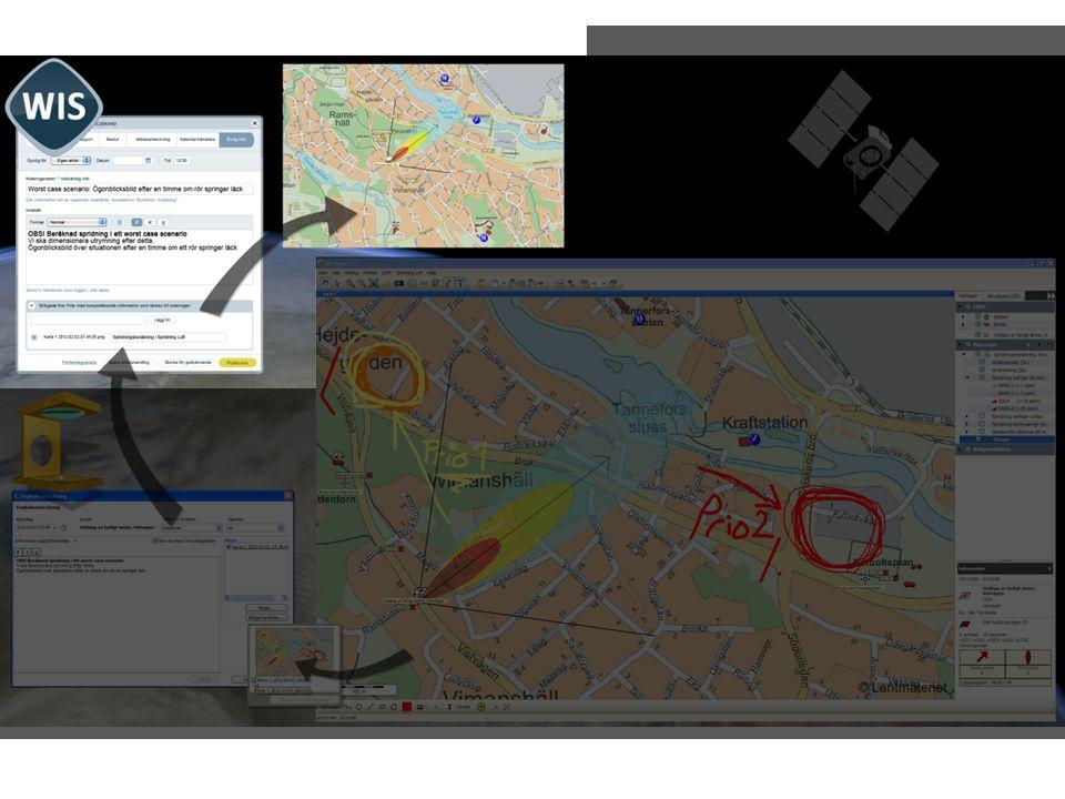 För att kommunicera mellan organisationer använder jag det nationella krisinformationssystemet WIS.