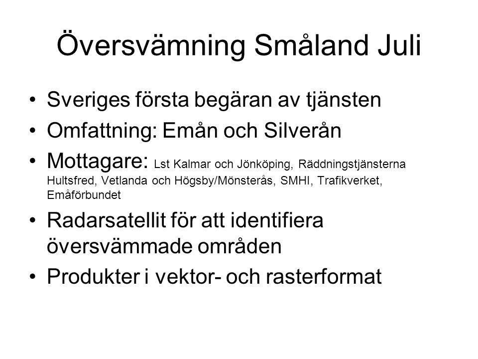 Översvämning Småland Juli