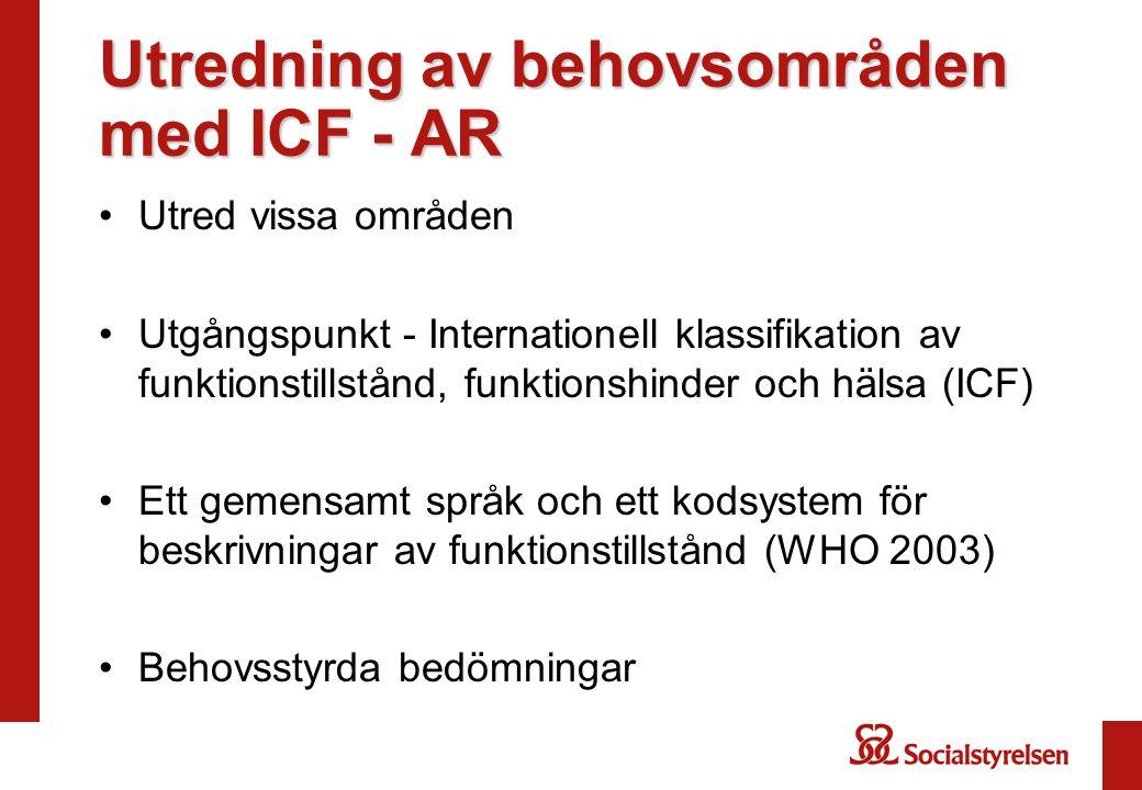 Utredning av behovsområden med ICF - AR