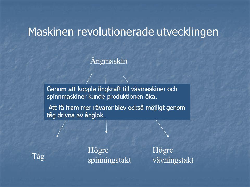 Maskinen revolutionerade utvecklingen