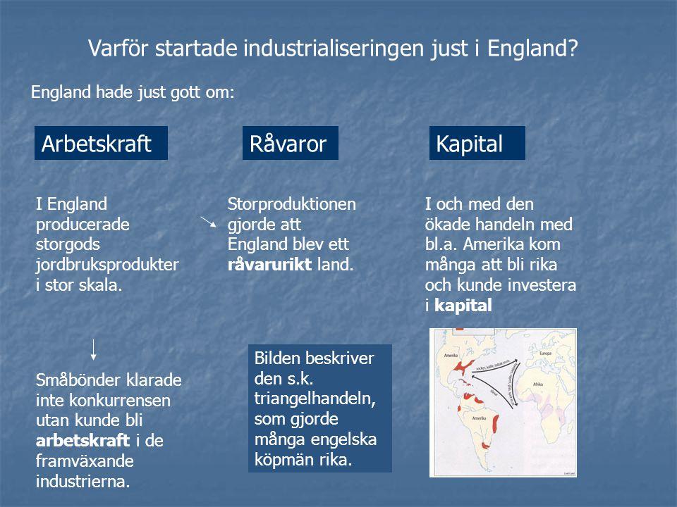 Varför startade industrialiseringen just i England