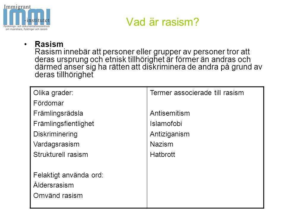 Vad är rasism