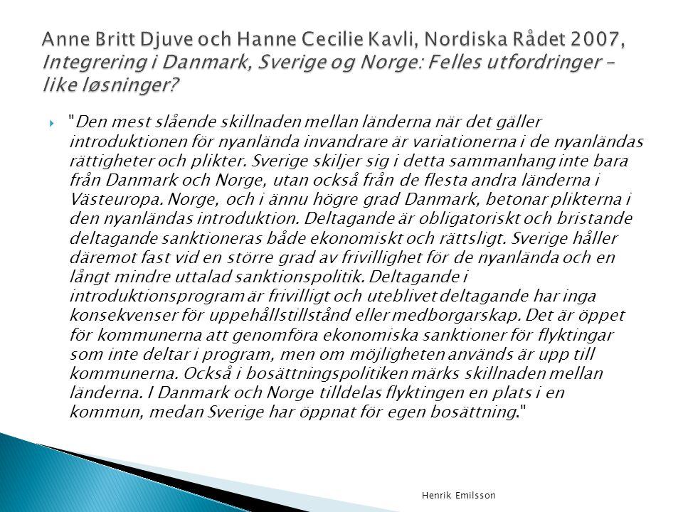 Anne Britt Djuve och Hanne Cecilie Kavli, Nordiska Rådet 2007, Integrering i Danmark, Sverige og Norge: Felles utfordringer – like løsninger