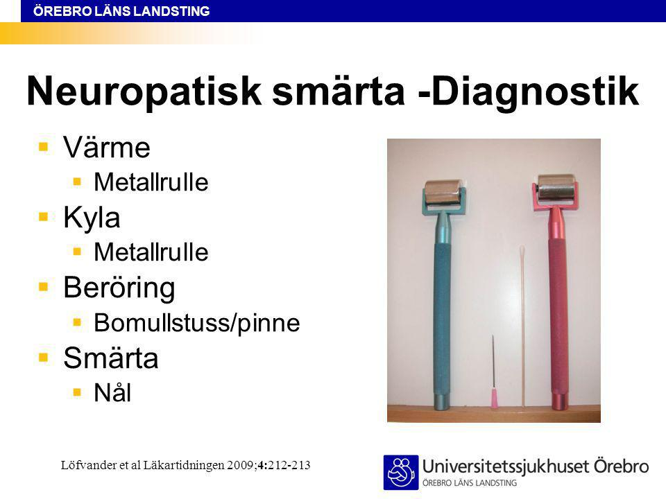 Neuropatisk smärta -Diagnostik