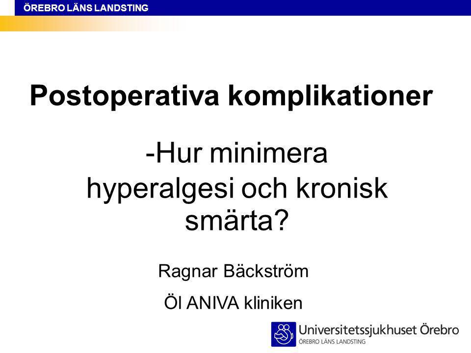 Postoperativa komplikationer