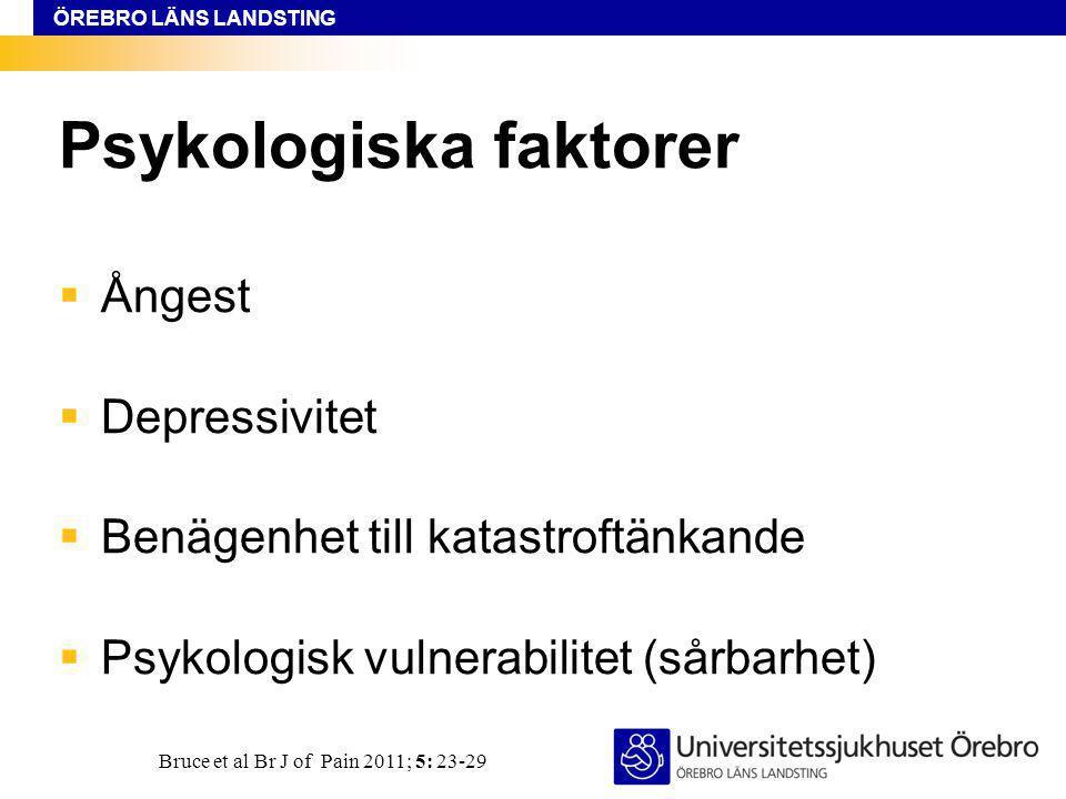Psykologiska faktorer