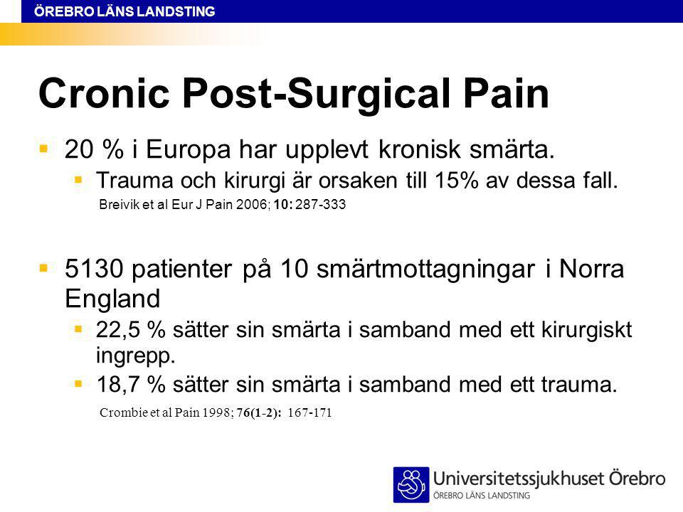 Cronic Post-Surgical Pain