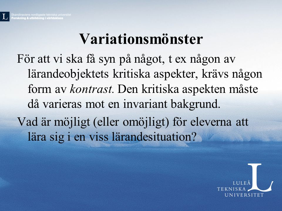Variationsmönster