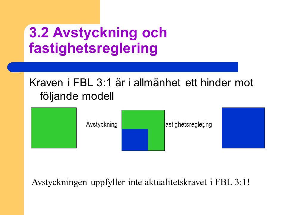 3.2 Avstyckning och fastighetsreglering