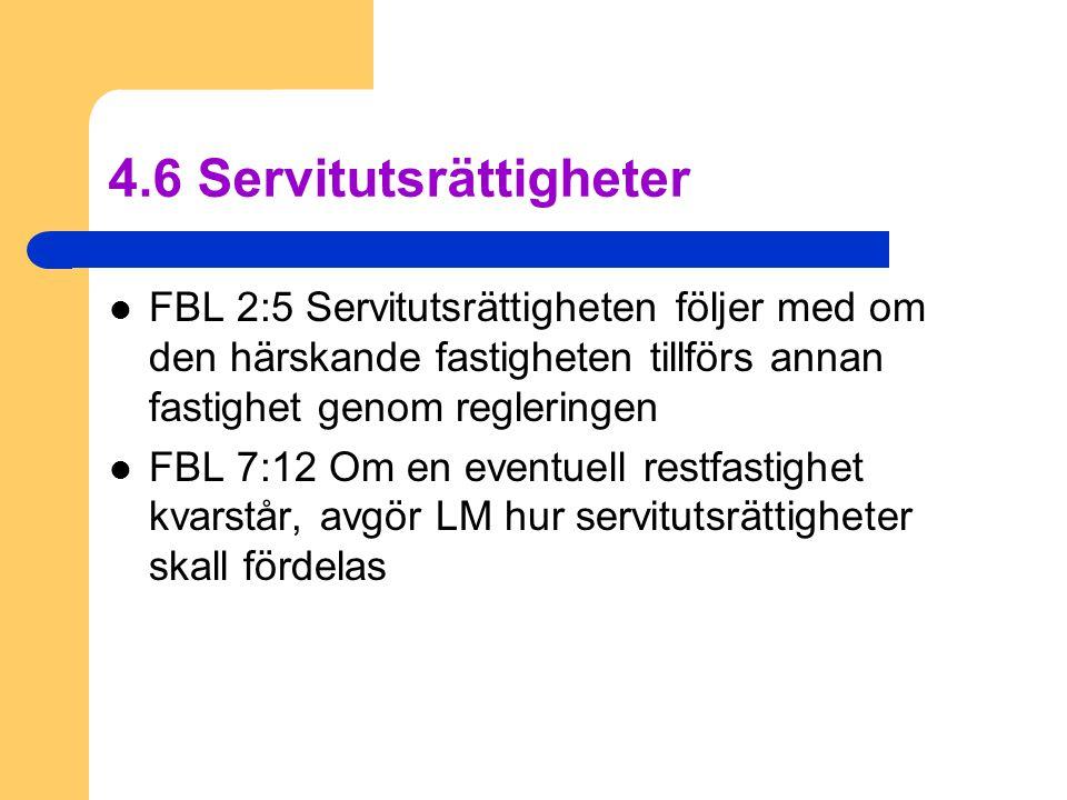 4.6 Servitutsrättigheter