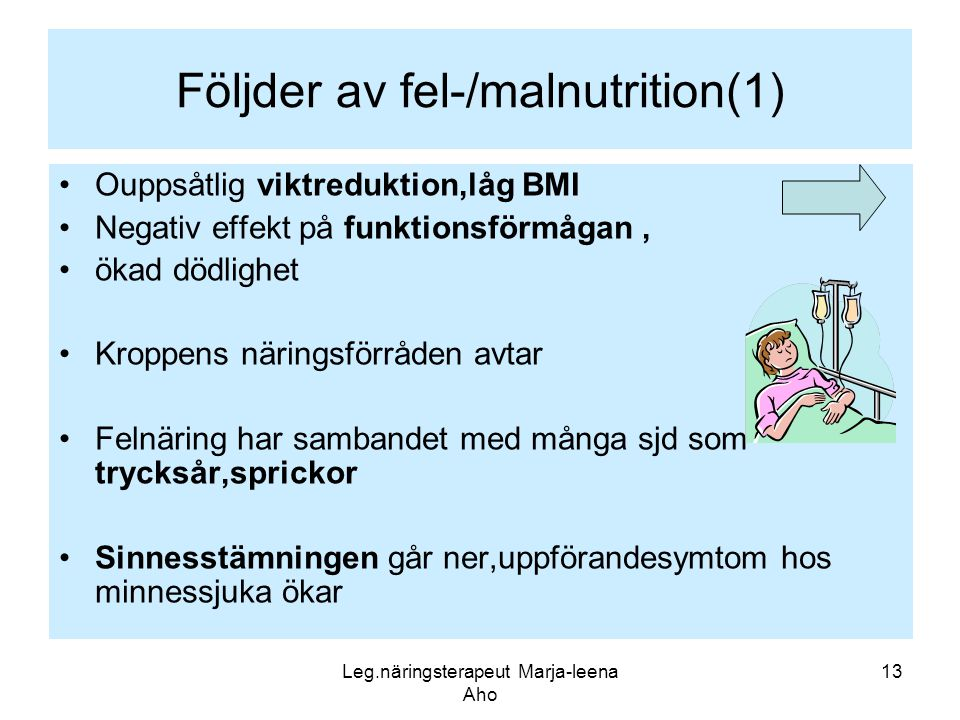Följder av fel-/malnutrition(1)