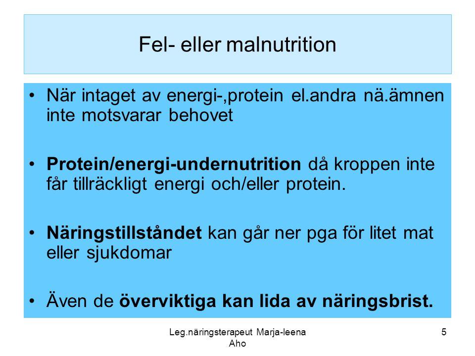Fel- eller malnutrition